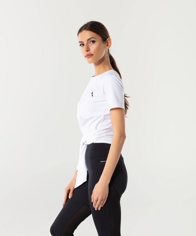 Dámské Bílé Tied up tričko s krátkým rukávem 4