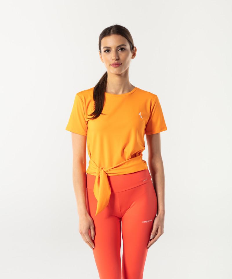 Orange Shortsleeve Tied up 1