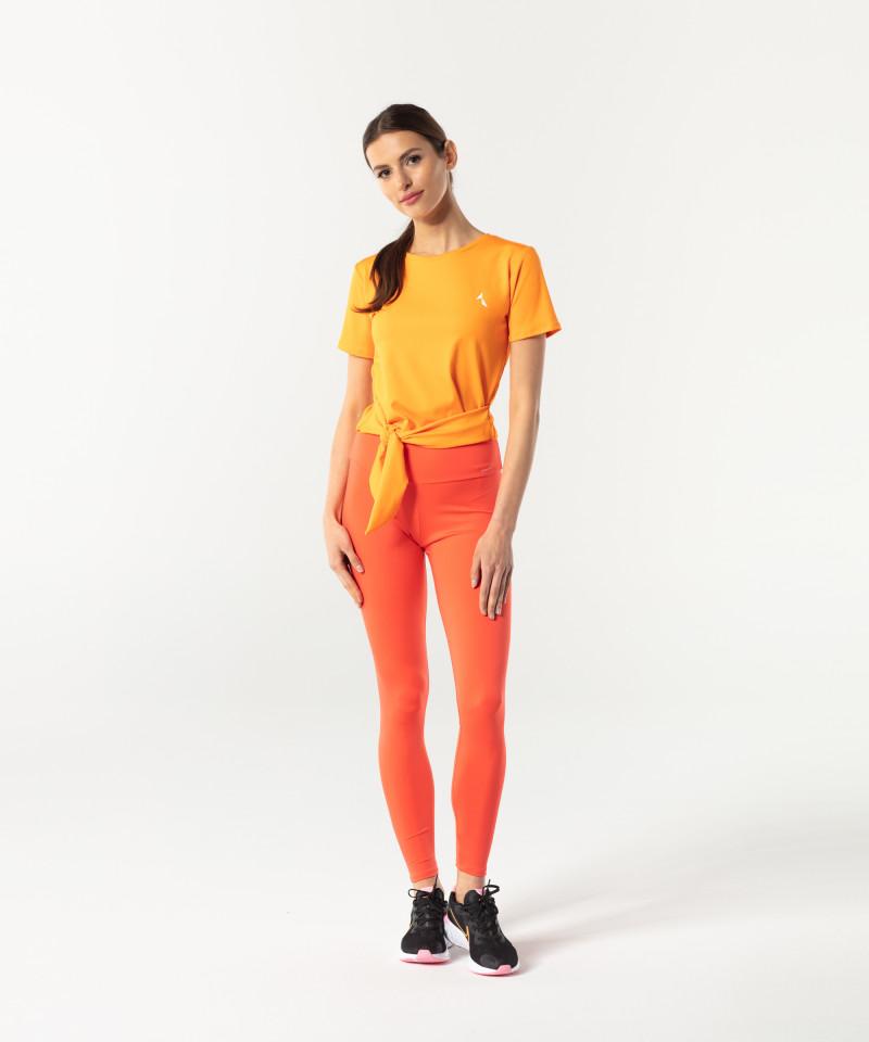 Orange Shortsleeve Tied up 4