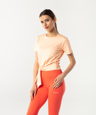 Peach Orange Tied up Shortsleeve 1