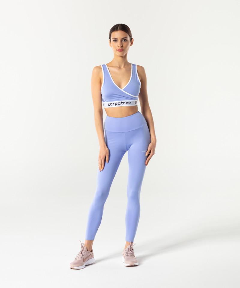 Синий спортивный топ Wrap 4