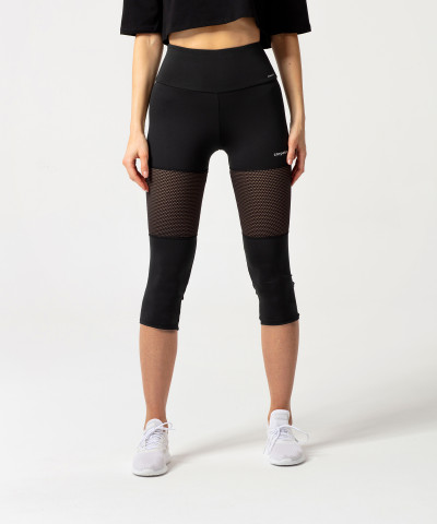Schwarze 3/4 Fiji Performesh Leggings 1