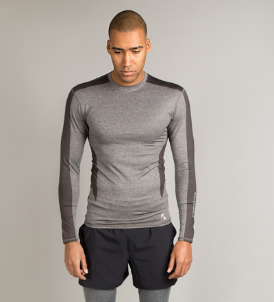Grey Shaded Compression Longsleeve 1