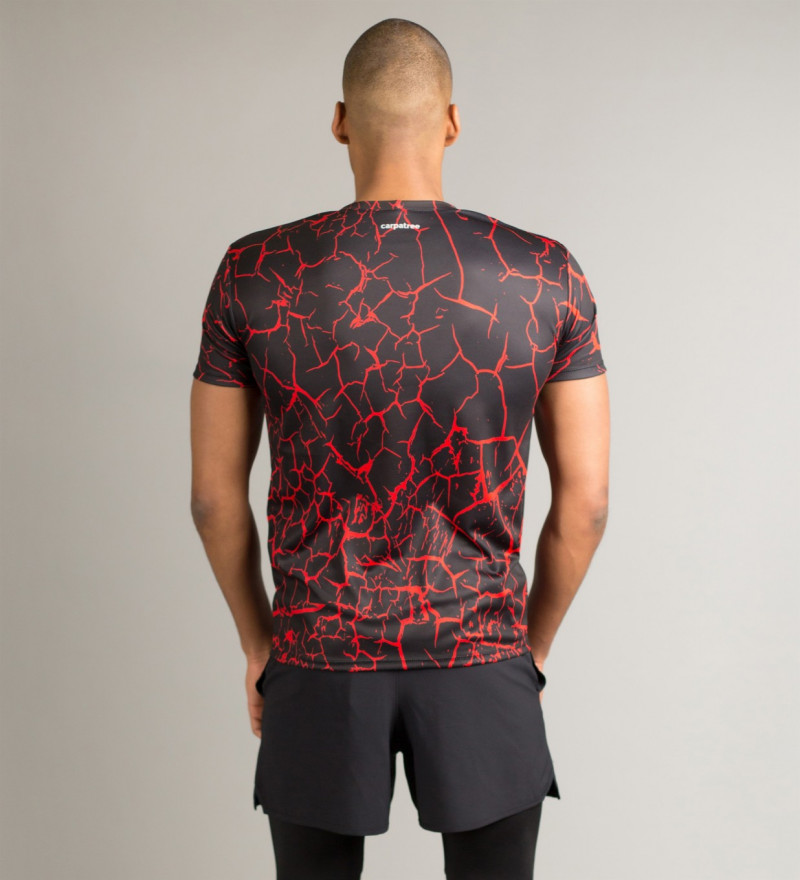Czarny T-shirt Cracks 3
