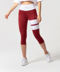 Burgundy Loop Capri Leggings 1