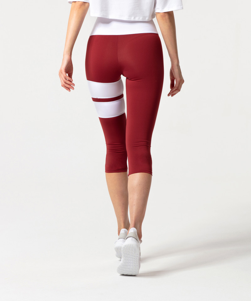 Burgundy Loop Capri Leggings 2