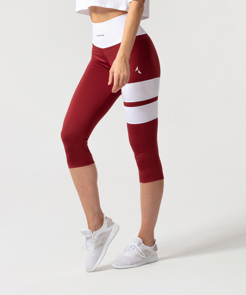 Burgundy Loop Capri Leggings 3