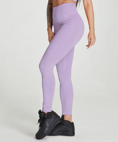 Liliowe legginsy bezszwowe Model One 1