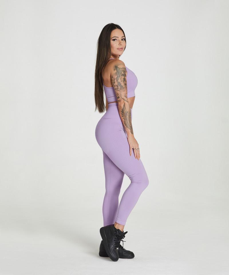 Lilac Model One Seamless Leggings 3