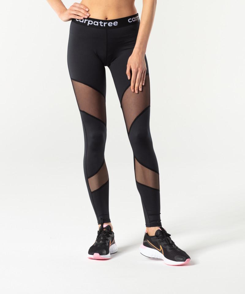 Black Double Mesh Leggings 2