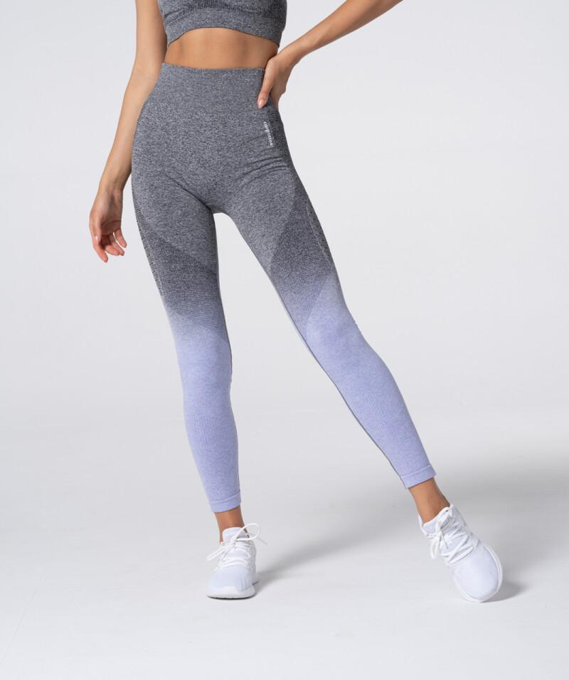 Women's Grey & Purple Ombre Phase Seamless Leggings 1