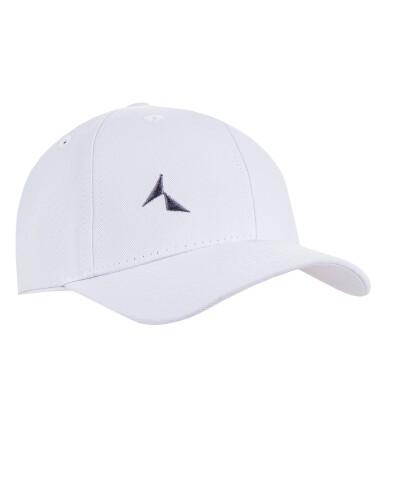Белая 6-панельная бейсболка с козырьком