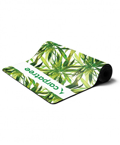Green Palm Tree Yoga Mat 1
