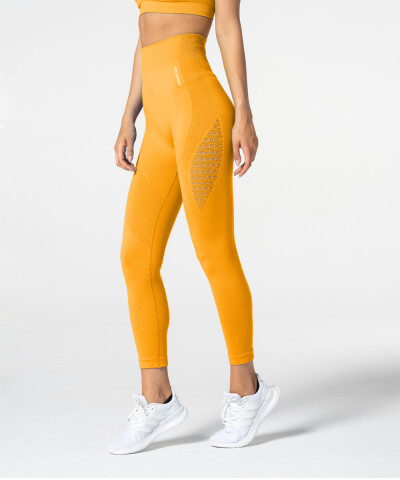 Women's Yellow Phase Seamless Leggings 1