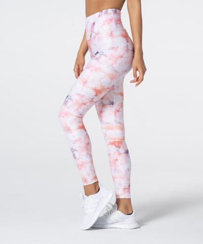 Pastellfarbene Leggings mit hoher Taille Tie Dye 1