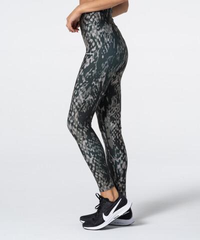 Grey Snake Printed Highwaist Leggings 1