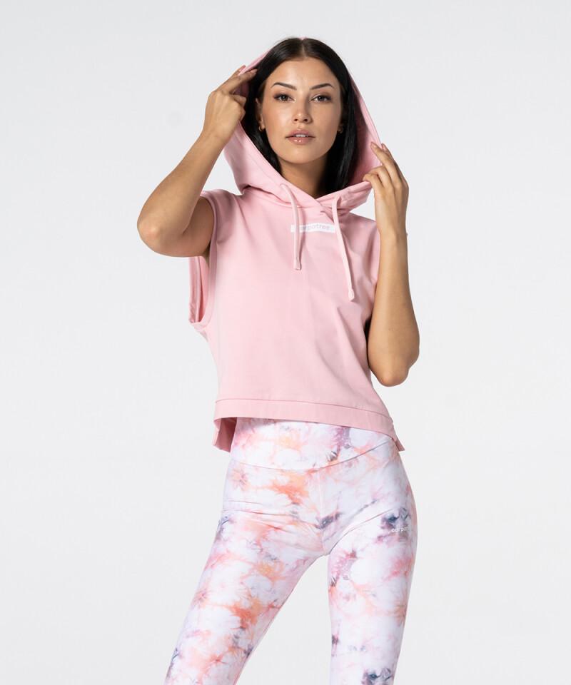 Женская розовая безрукавка с капюшоном Punch