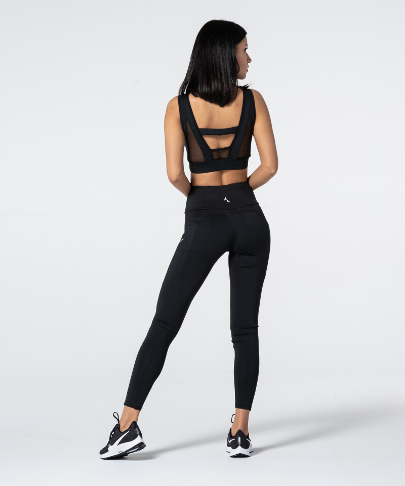 Czarne legginsy z kieszeniami Libra