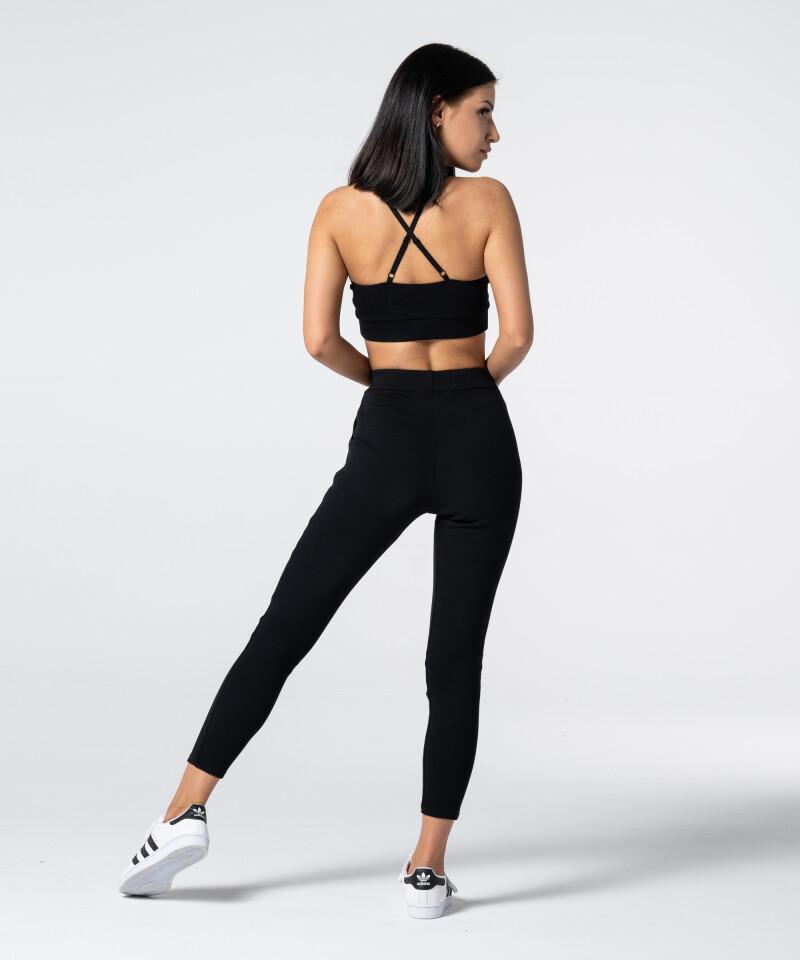 Женские черные спортивные штаны Rib 5