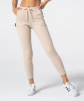 Women's Beige Rib Sweatpants 2