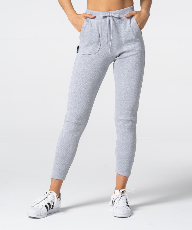 Женские серые спортивные штаны Rib 3