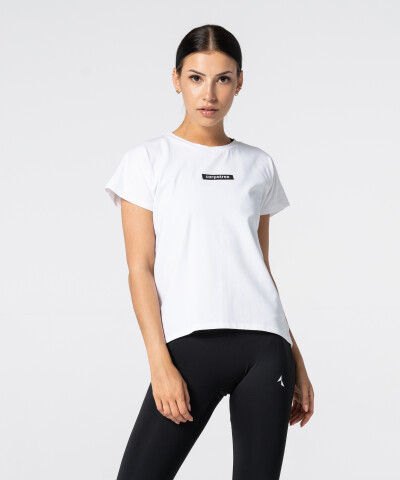 Women's White Symmetry T-shirt 1