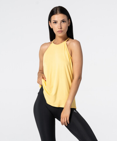 Damen Gelb String Tank Top