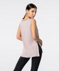 Růžové Tričko Slit s krátkým rukávem 2
