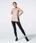 Růžové Tričko Slit s krátkým rukávem 4
