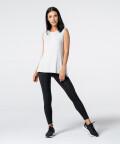 Women's Light Grey Slit Sleevelees T-shirt  4