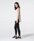 Women's Light Grey Slit Sleevelees T-shirt  5
