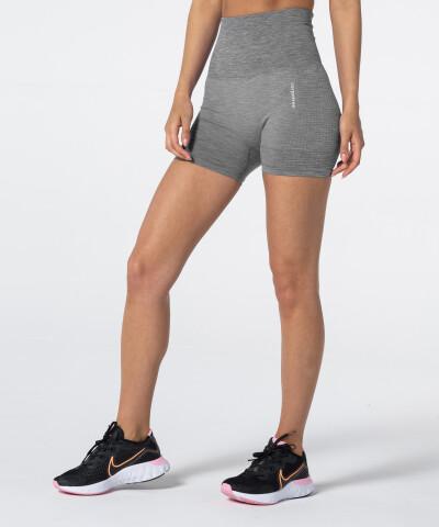 Женские бесшовные шорты Model One в цвете серый меланж 1