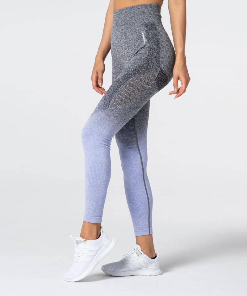 Women's Grey & Purple Ombre Phase Seamless Leggings 2