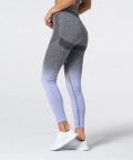 Women's Grey & Purple Ombre Phase Seamless Leggings 3
