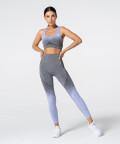 Women's Grey & Purple Ombre Phase Seamless Leggings 4