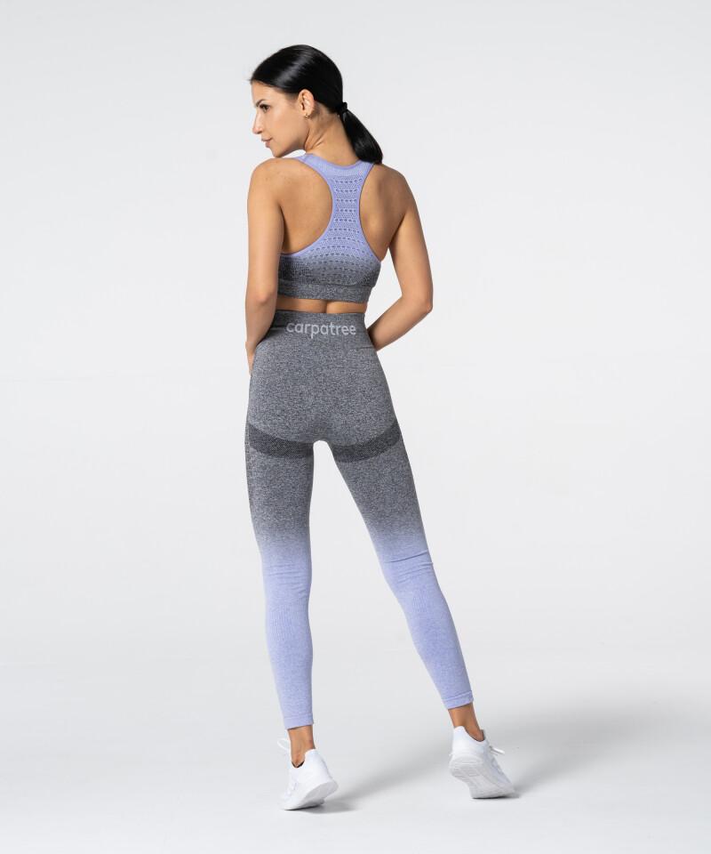 Women's Grey & Purple Ombre Phase Seamless Leggings 5