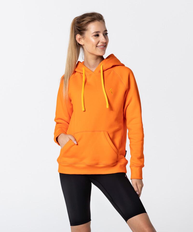 Women's Neon Orange Vibrant Hoodie 1