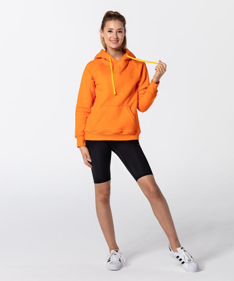 Women's Neon Orange Vibrant Hoodie 5