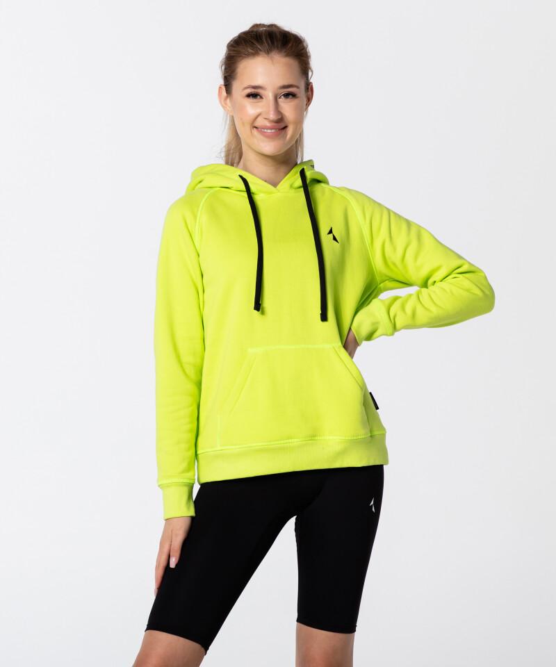 Dámská Neonová Zelená Vibrant Mikina 1