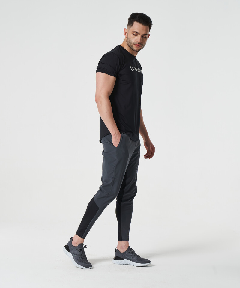 Men's Grey & Black Stellar Joggers 5