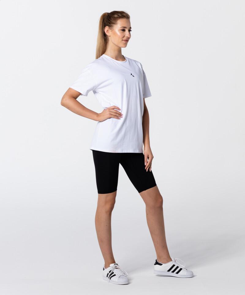 Белая женская футболка Boyfriend из хлопка