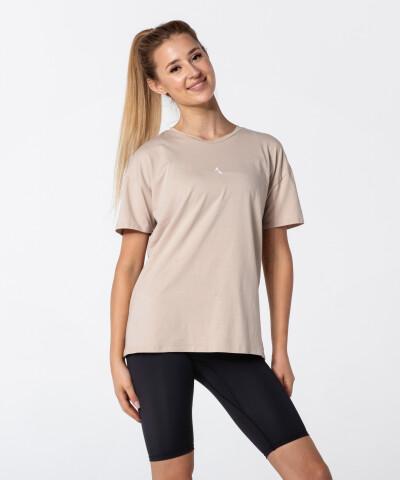 Women's Beige Boyfriend T-shirt