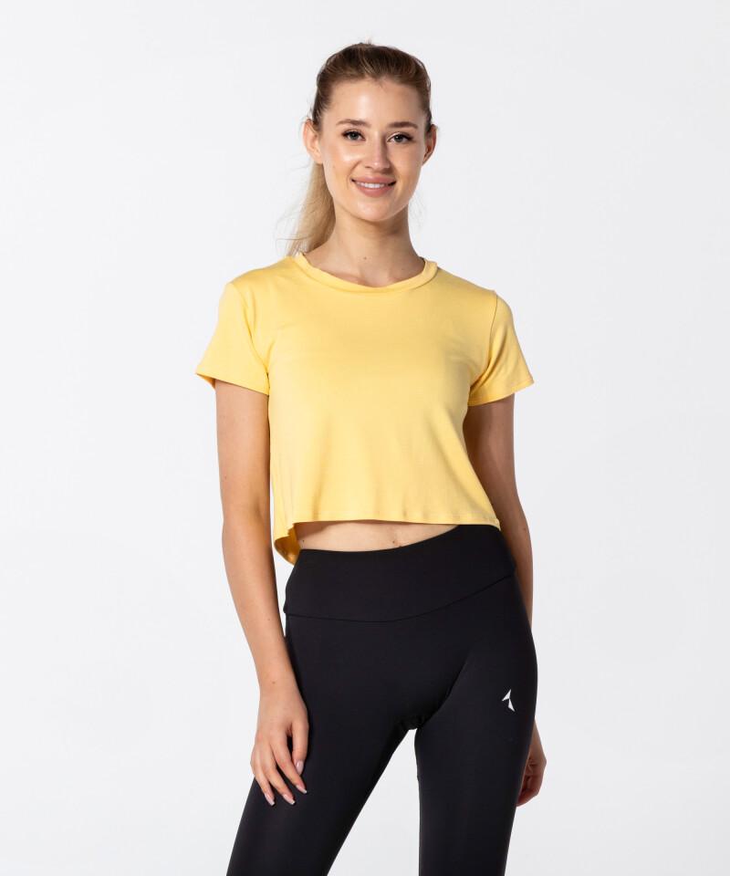 Dámské žluté tričko Open Back 1