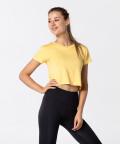 Dámské žluté tričko Open Back 3