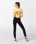 Dámské žluté tričko Open Back 5