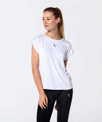 Biały T-shirt Roll-Up 1