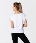 Weißes Damen T-Shirt Roll Up 2