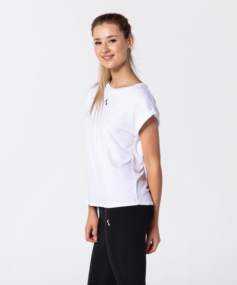 Weißes Damen T-Shirt Roll Up 3