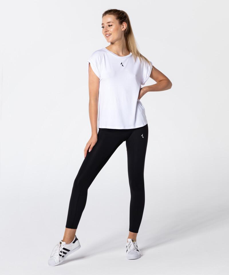 Weißes Damen T-Shirt Roll Up 5