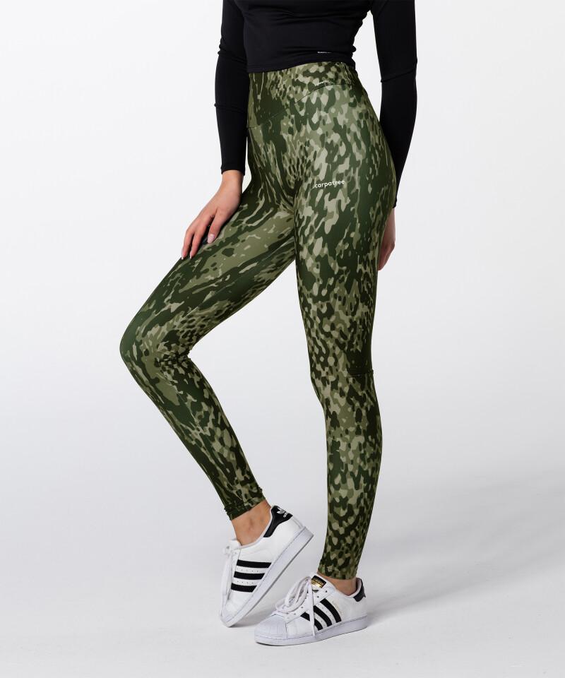 Green Snake Highwaist Printed Leggings 1